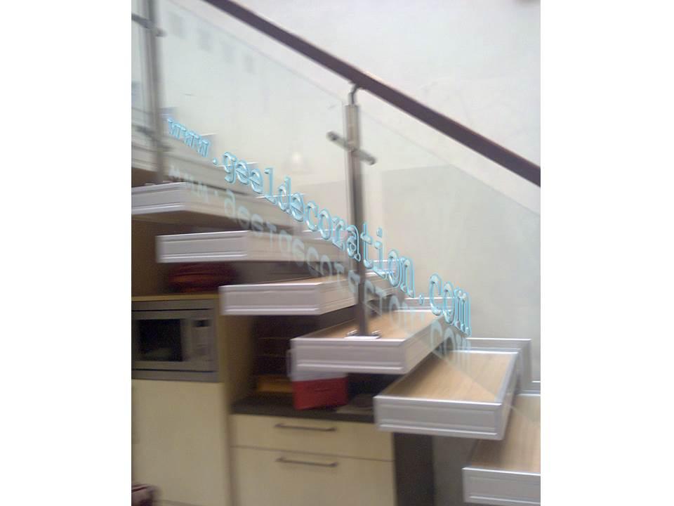 Railing Tangga Kaca Partisi Pintu Jendela Railing Kanopi